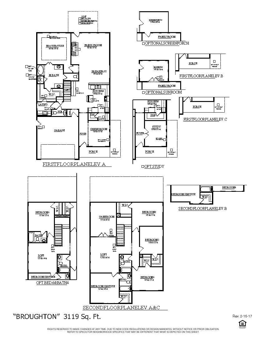 Moncks Corner New Home Broughton Floorplan