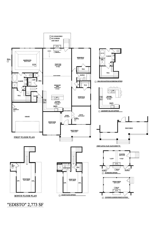 Moncks Corner New Home Lakeside - Edisto Floorplan