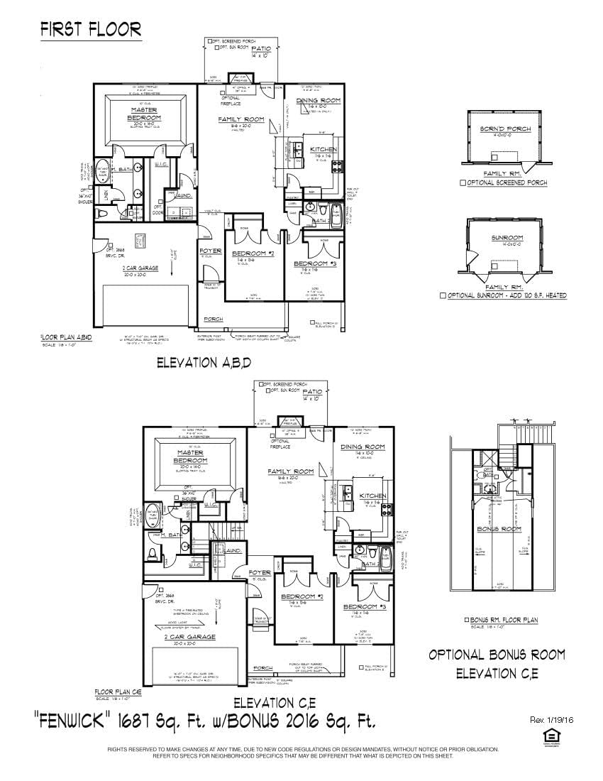 Greer New Home Fenwick  Floorplan