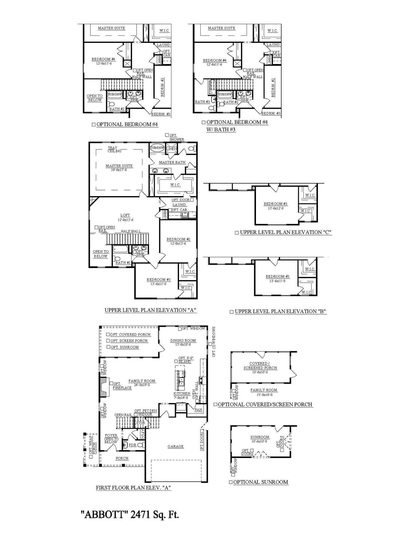 Moncks Corner New Home Abbott Floorplan