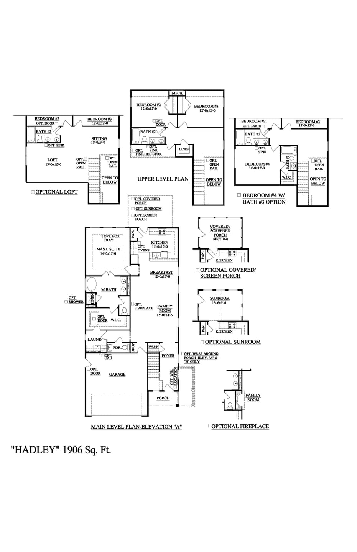 Fountain Inn New Home Hadley Floorplan