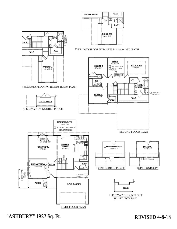 Greer New Home Ashbury Floorplan
