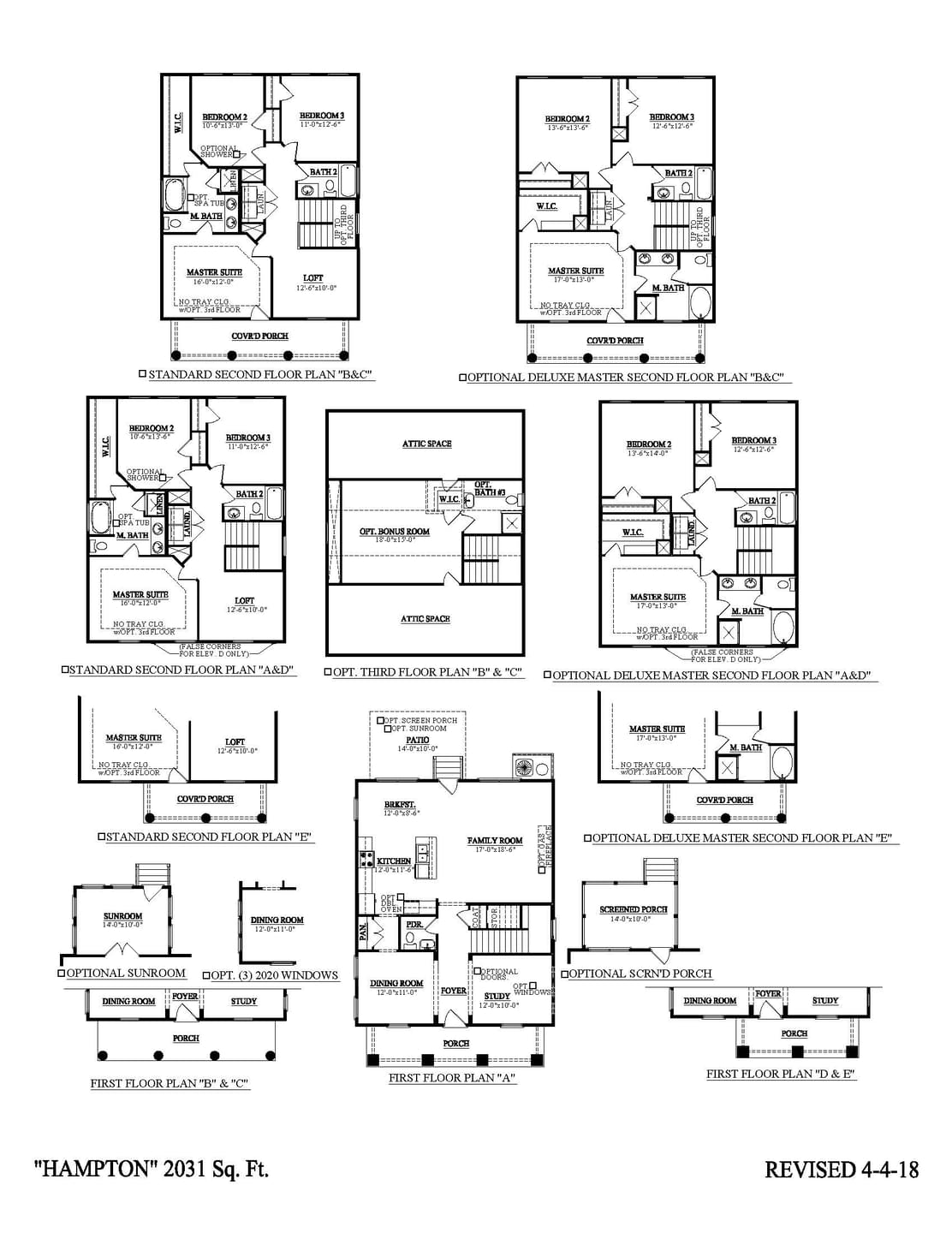 Summerville New Home  Hampton  Floorplan