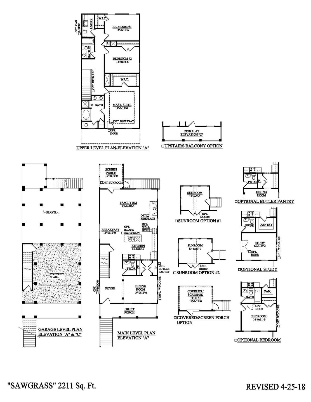Sawgrass Drive-Under New Home Floorplan