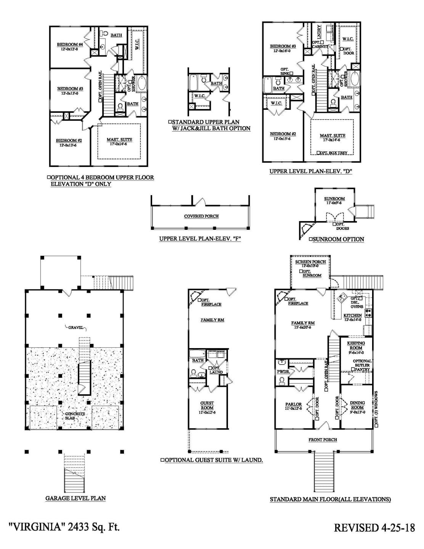 Charleston New Home Avondale Drive-Under Floorplan