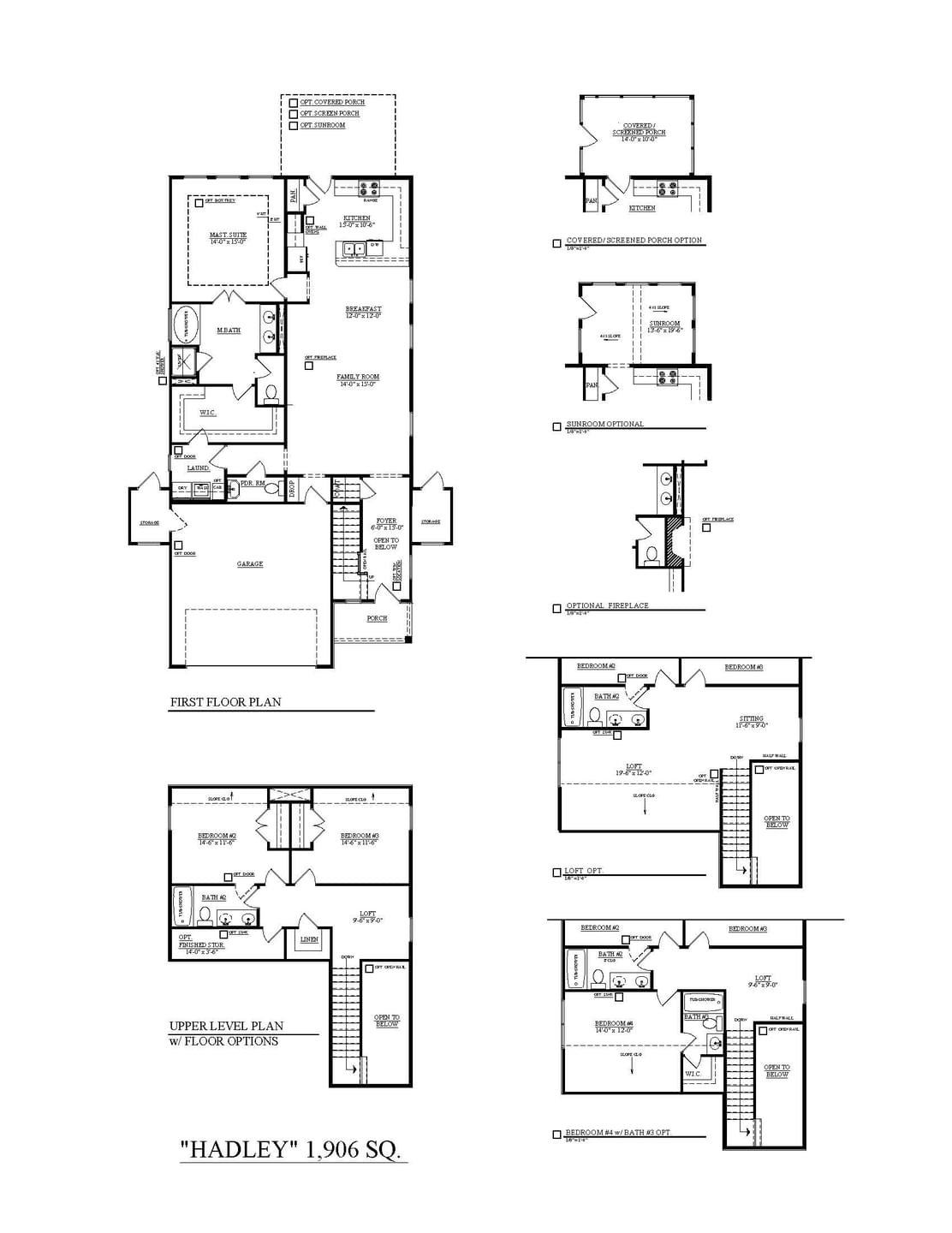 Summerville New Home Hadley Floorplan