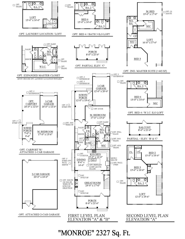 Monroe New Home Floorplan