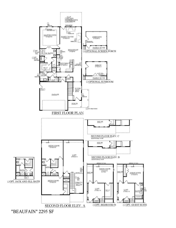 Moncks Corner New Home Beaufain Floorplan