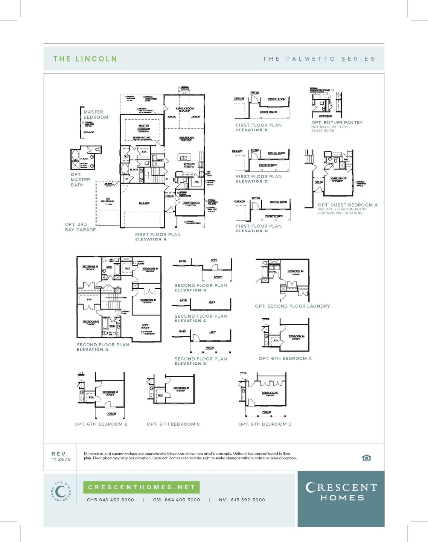 Summerville New Home  Lincoln  Floorplan