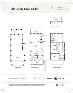 Charleston New Home Emory Drive Under Floorplan
