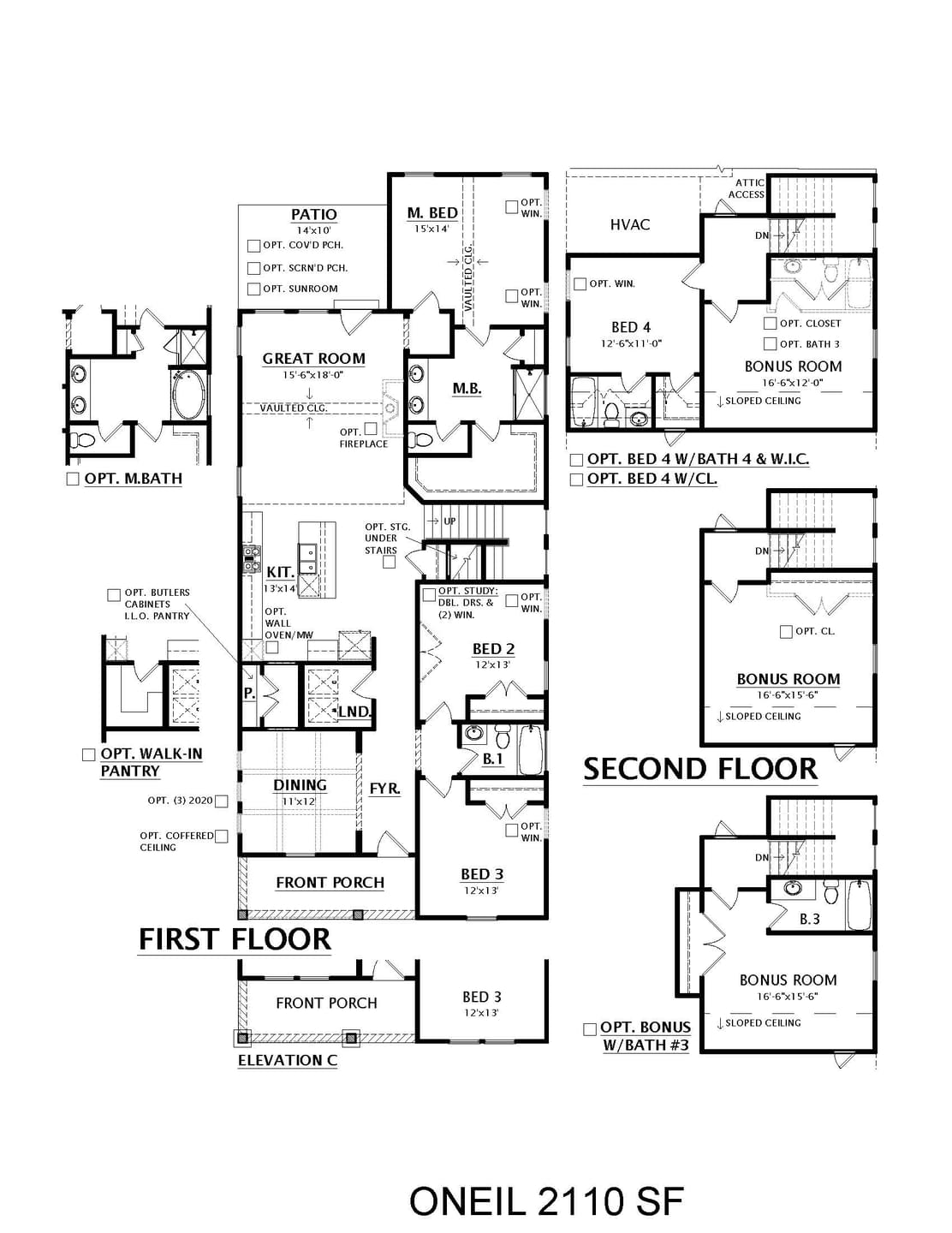 Spring Hill New Home O'Neil Floorplan