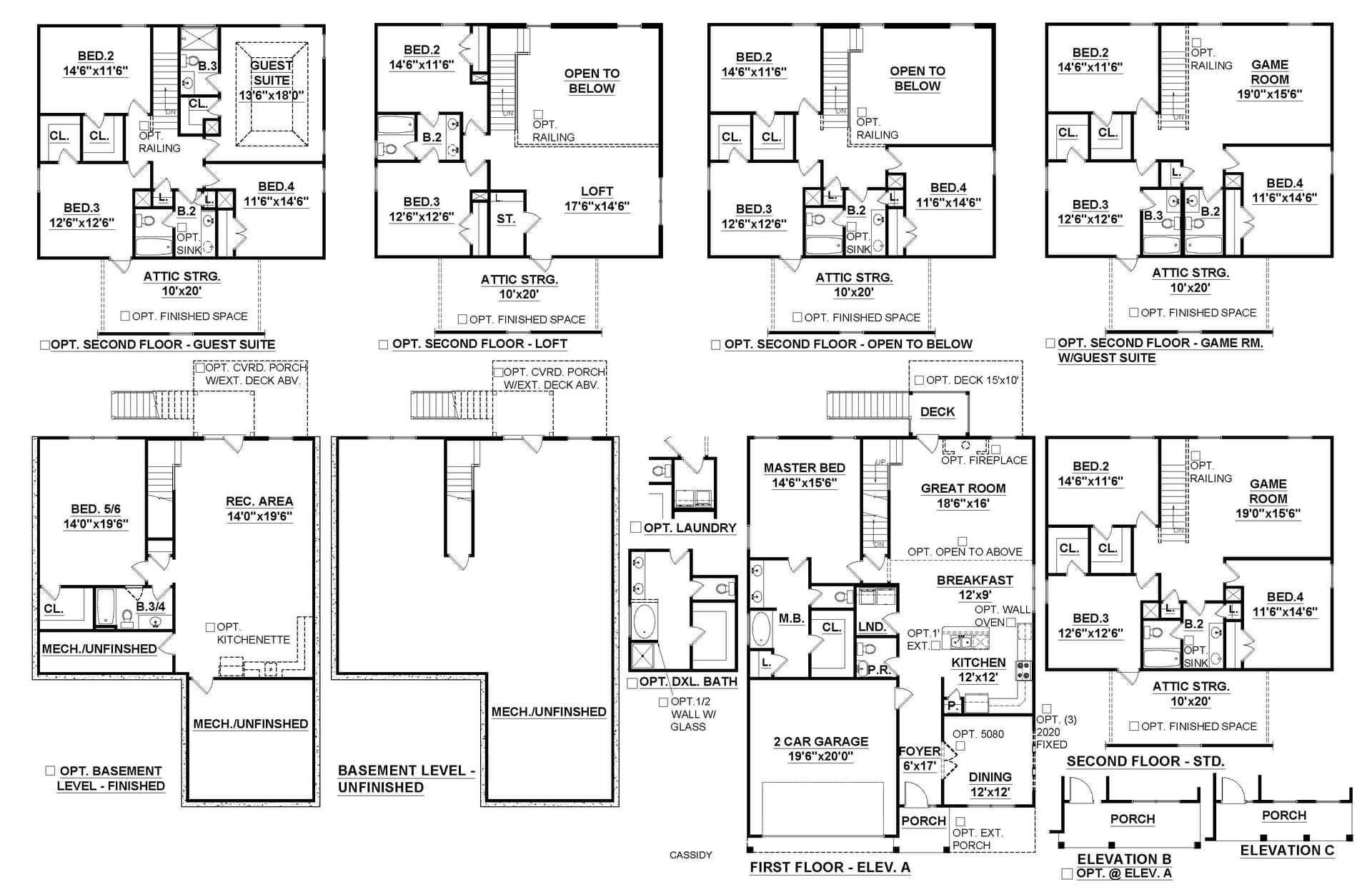 Simpsonville New Home Cassidy - Basement Floorplan