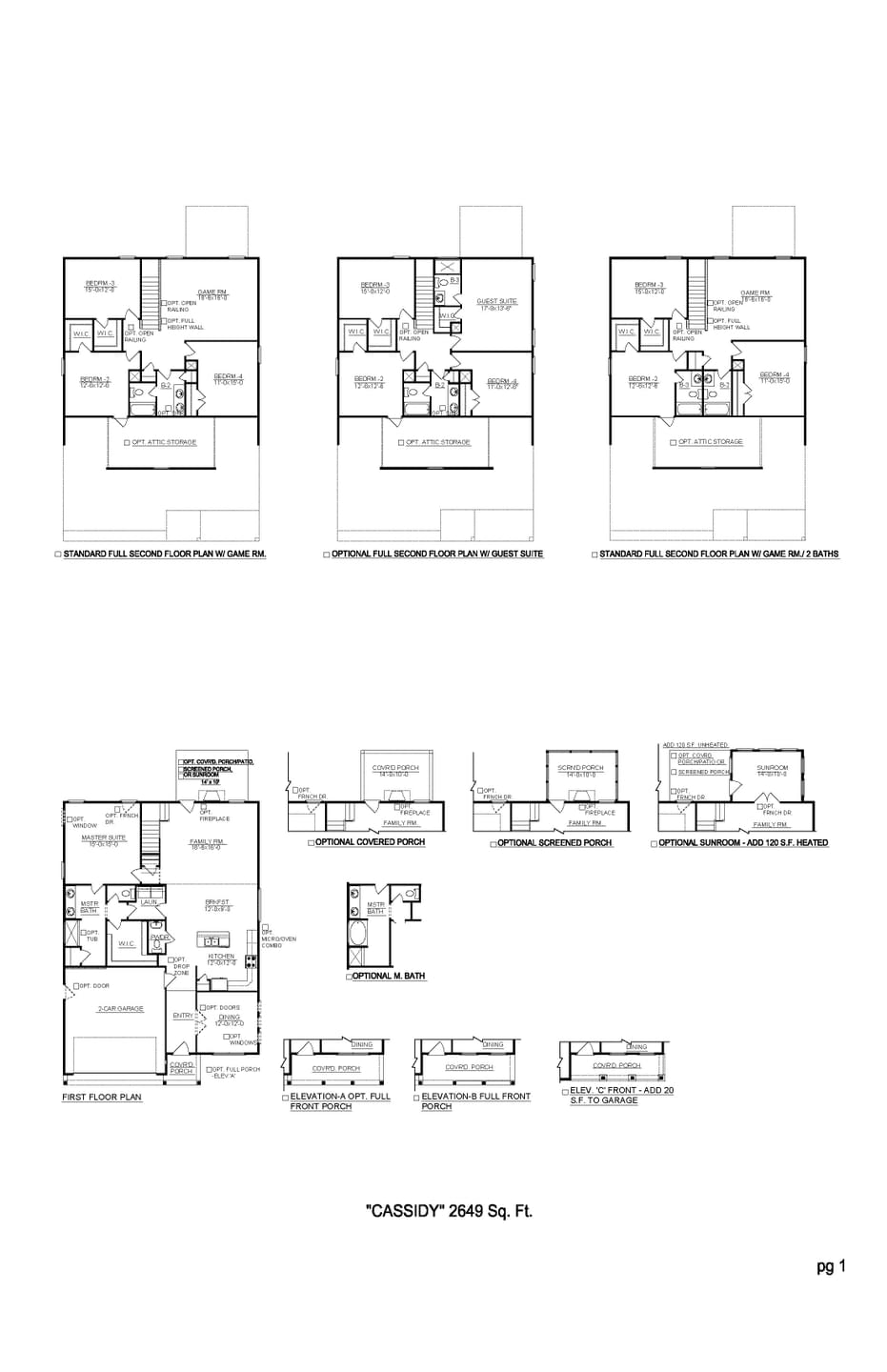 Spring Hill New Home Cassidy Floorplan