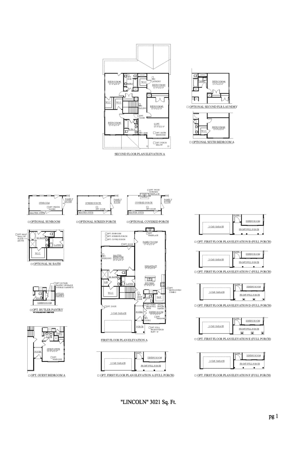 Spring Hill New Home Lincoln Floorplan