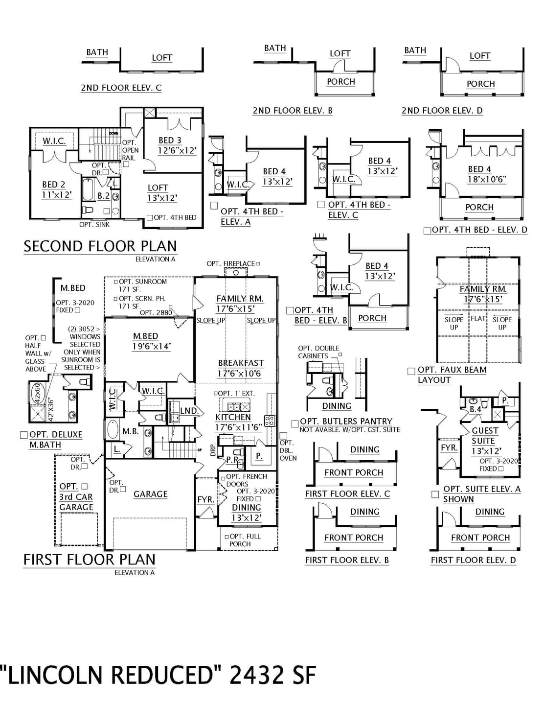 Taylors New Home Lincoln II  Floorplan