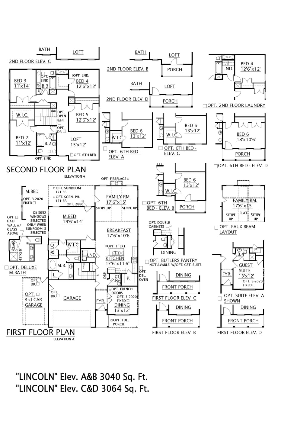 Taylors New Home Lincoln Floorplan