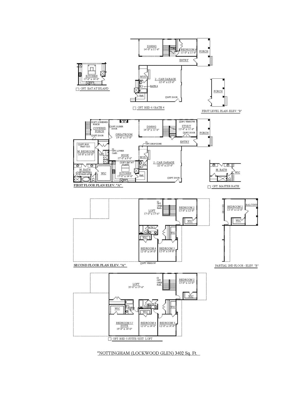 Franklin New Home Nottingham Floorplan