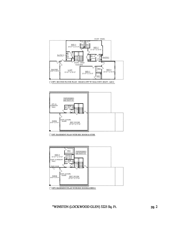 Franklin New Home Winston Floorplan