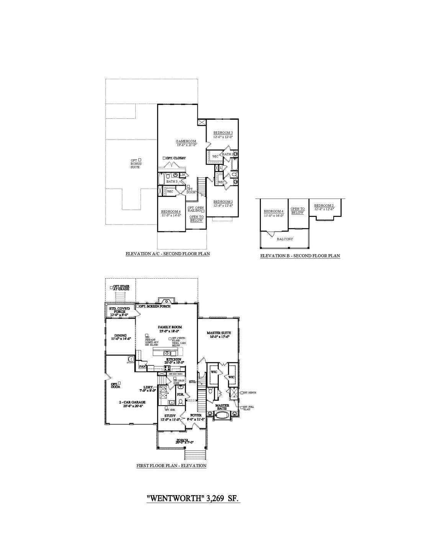 Franklin New Home Wentworth Floorplan