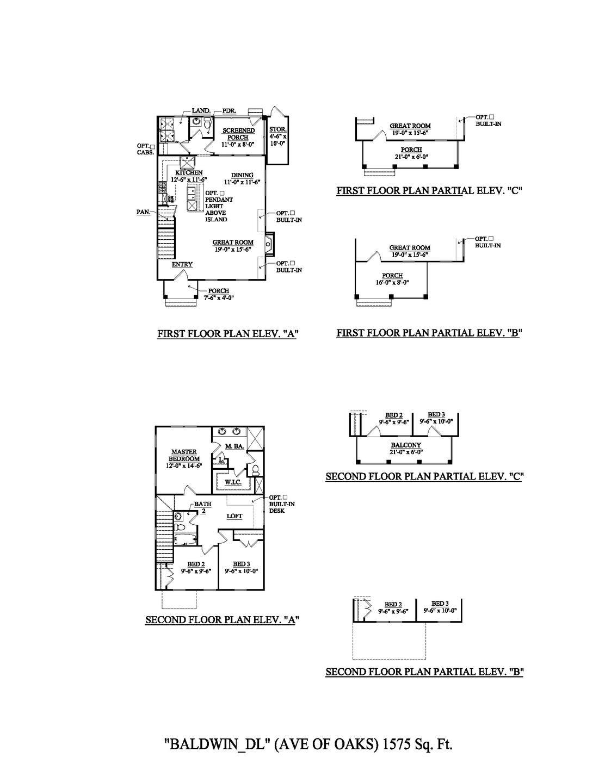 Charleston New Home Baldwin Floorplan