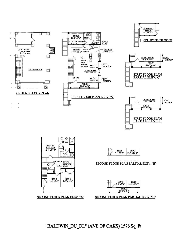Charleston New Home Baldwin Drive Under Floorplan