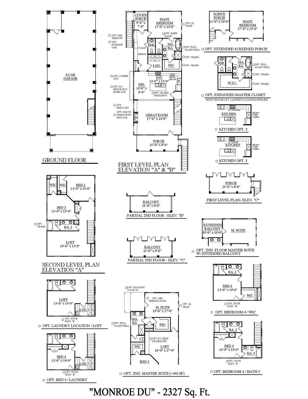 Monroe Drive Under New Home Floorplan