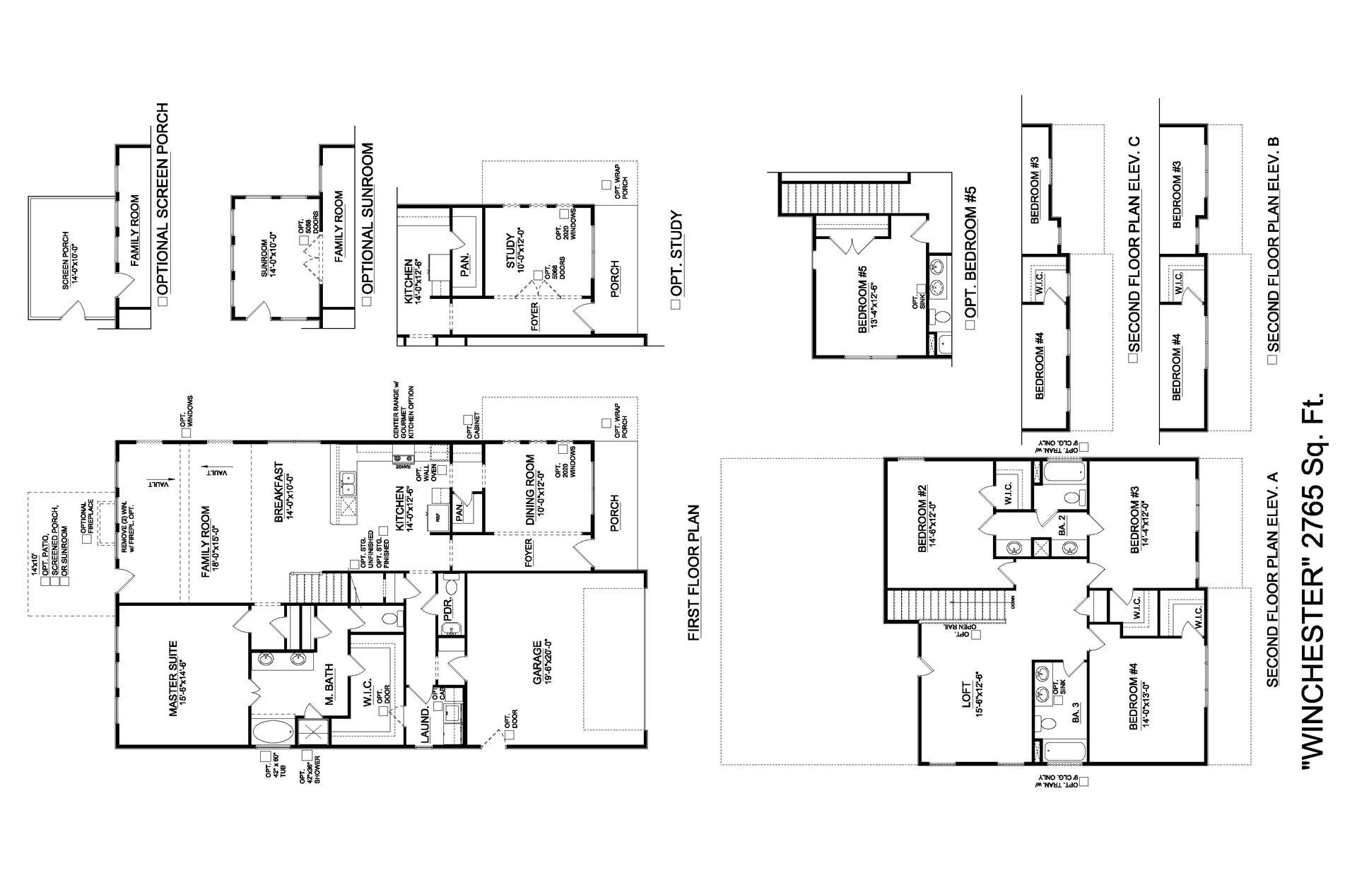 Simpsonville New Home Winchester Floorplan