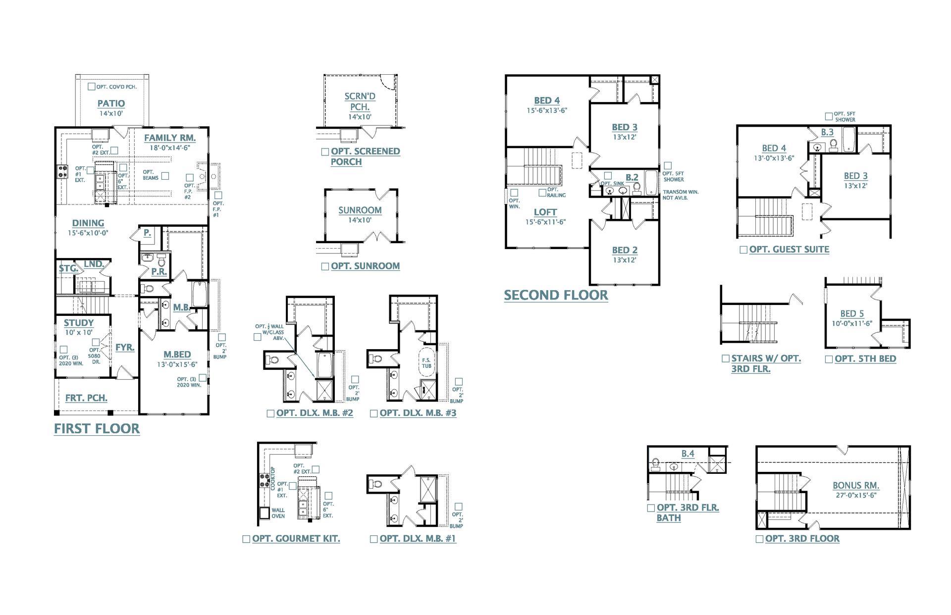 John's Island New Home Avondale Floorplan