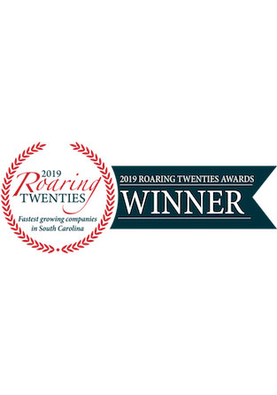 One of the 40 fastest-growing companies in South Carolina for 2019 by SC Biz News