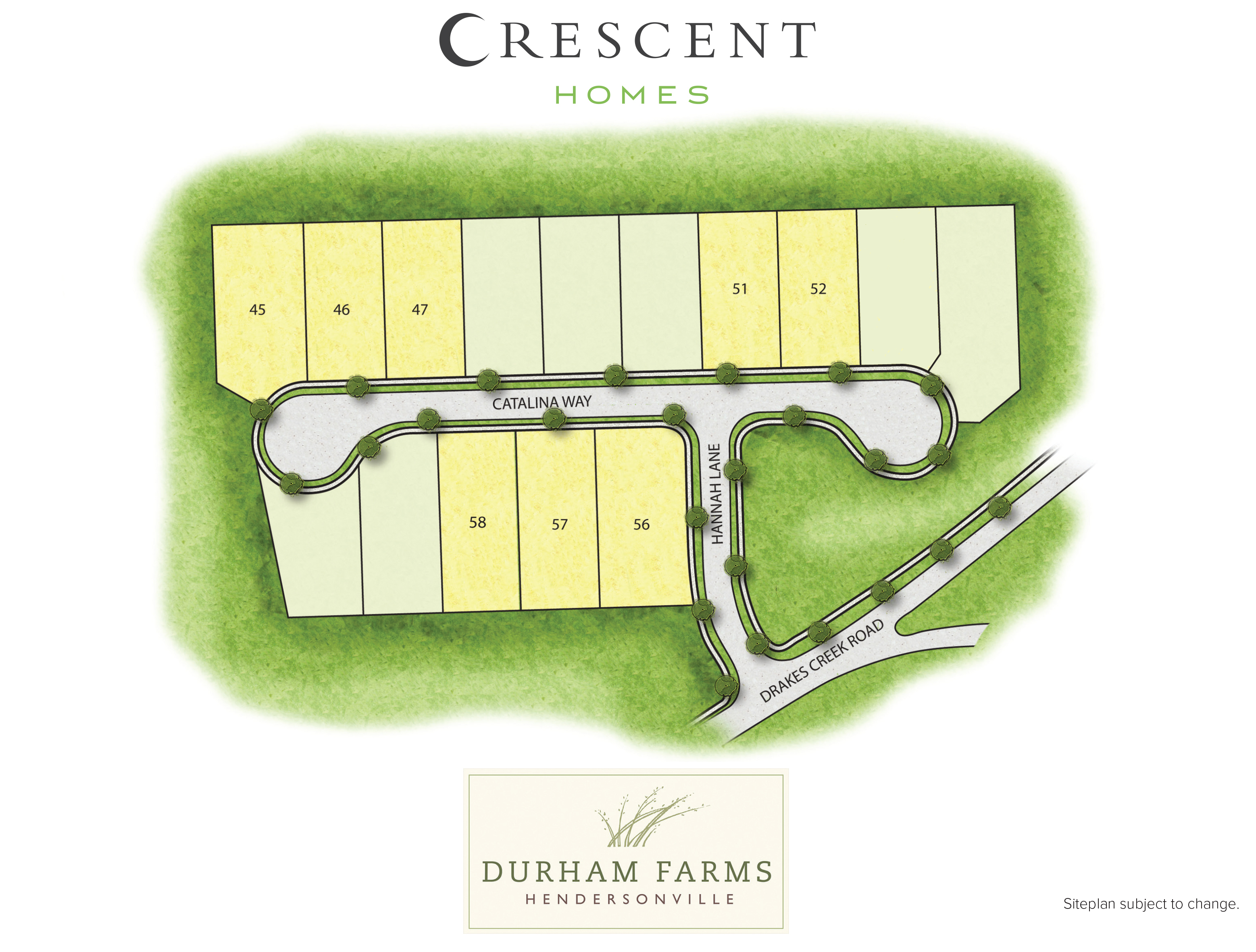Hendersonville, TN Durham Farms New Homes