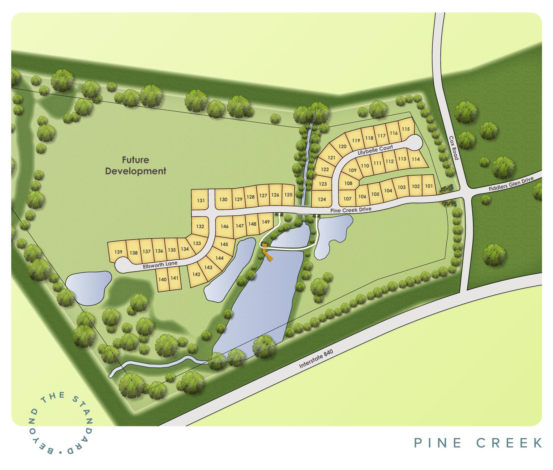 Arrington, TN Pine Creek New Homes