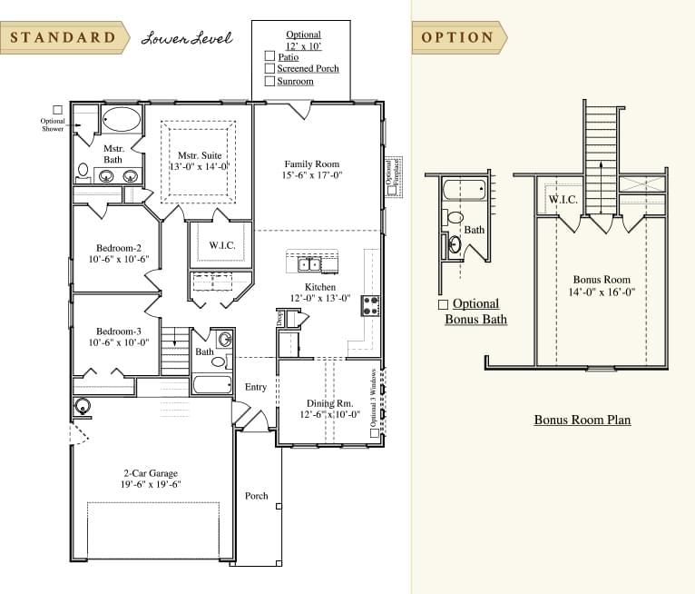 Summerville New Home  Ashley  Floorplan