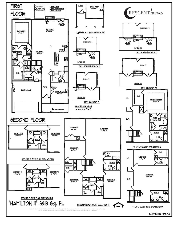 Moncks Corner New Home Hamilton II Floorplan